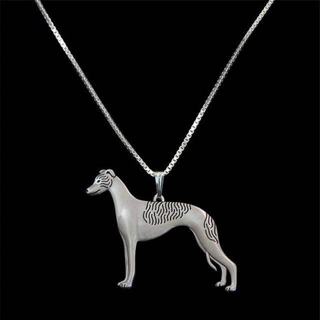 2019 מכירה לוהטת נשים של בציר כסף סגסוגת תליון שרשראות אוהבי עומד ויפט תכשיטי כלב שרשראות Drop חינם