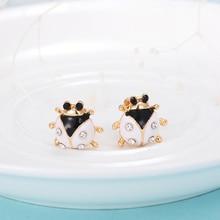 Handmade Lady Bird Rhinestone Earrings