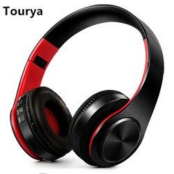 Tourya B7 سماعات لاسلكية سماعة رأس بخاصية البلوتوث سماعة أذن سماعات أذن سماعات أذن مع ميكروفون للكمبيوتر موسيقى الهاتف المحمول