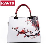 2016 Luxury Brand Women Handbags Floral Printed Designer High Quality Top Handle Tote Bag For Ladies