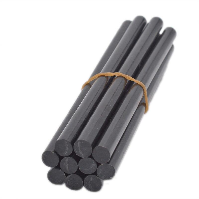 10pcs/set 11mmx190mm 270mm 300mm Non-toxic Solid Black Glue Sticks Auto Body Painltess Dent Repair For 11mm Glue Gun Complete Range Of Articles Hot Melt Glue Sticks