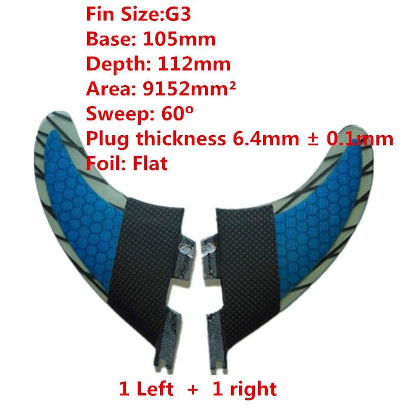 Srfda SUP Surfboard fin Haute qualité 2 Pcs/ensemble FCS II G3 G7 surf en fiber de verre de miel peigne matériel pour surf S L