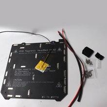 Prusa i3 MK3/MK3S MK52 cama aquecida 24V montado, N35UH ímãs, cabo de alimentação, termistor, manga têxtil para DIY impressora 3D