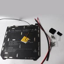 Prusa i3 MK3/MK3S MK52 heated bed 24V assembled, N35UH magnets, power cable, thermistor, textile sleeve for DIY 3D printer
