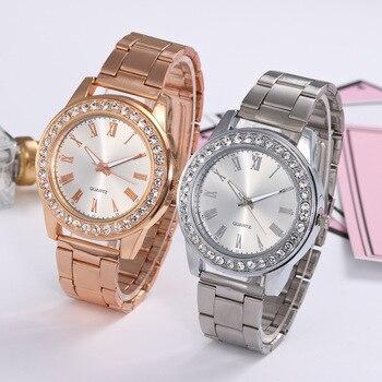 2018 Top Luxury Brand Bling Bling Rhinestone Roma Dial Women Quartz Watch Ladies wristwatches relogio feminino rose gold silver