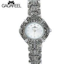 797875f45cb5 GAGEFEEL 100% 925 reloj para mujer de las mujeres horas reloj Thail plata  relojes Bling cuarzo femenino