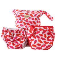 Big Kiss Newborn Pocket Diaper Bamboo (Cloth Diapers+Swimming Diaper+Wet Bag)
