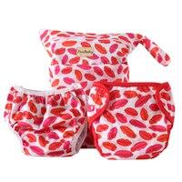 Big Kiss Purrrrfect O N E Diaper Combo Cloth Diaper Swimming Diaper Wet Bag