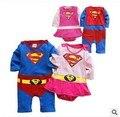 Одежда для маленьких мальчиков комбинезон супергероя, длинный рукав, украшенный сборками, костюм на Хэллоуин, Рождество, подарок, детские к...