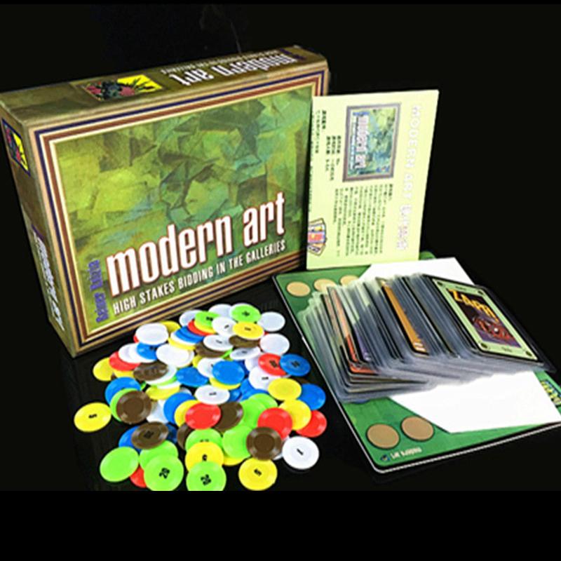 tarjetas de juego de mesa de arte moderno jugadores juegos fciles de juego