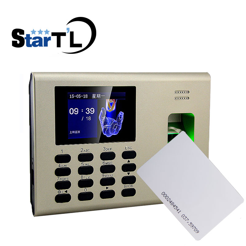 ZK K40 RFID Punch Card and Fingerprint Time Attendance Fingerprint Time Clock For employer attendance System high speed zk fingerprint time attendance terminal iclock360 125khz em id card punch card and fingerprint time clock system