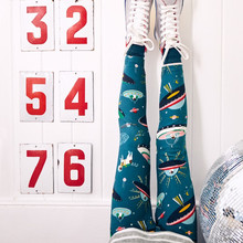 купить Girls Leggings Children Clothing 2019 Unicorn Stripes Printed Girl Trousers Skinny Baby Girl Leggings Appliqued Toddler Pants по цене 361.66 рублей