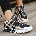 Горячее Надувательство!! 2016 Воздухопроницаемой Сеткой мужская Повседневная Обувь Класса Люкс Мода Повседневная Zapatos Hombre Мужчины Обувь Черный Белый Золотой Цвет