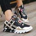 ¡ Venta caliente!! 2016 de Malla Transpirable Zapatos Ocasionales de Los Hombres de Moda de Lujo Casual Zapatos Hombre Hombres Zapatos Negro Blanco Color de Oro