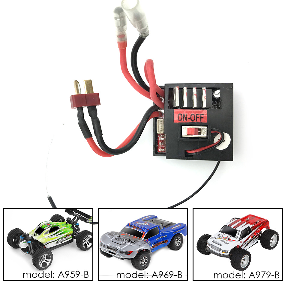 WLtoys A959 B 25 Receiver ESC Motherboard Original Spare Parts For A959 B A969 B A979 B 70km/h RC Car|Parts & Accessories| |  - title=