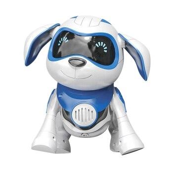 Robô cachorro eletrônico brinquedos para animais de estimação sem fio robô filhote de cachorro inteligente sensor vai andar falando remoto robô do cão brinquedo para crianças meninos meninas