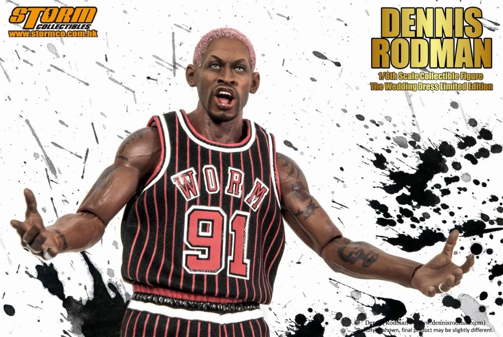 1/6 scale Collectible  figure doll Dennis Rodman The Wedding Dress Special Edition 12 action figures doll Plastic Model Toys a farewell to arms the special edition