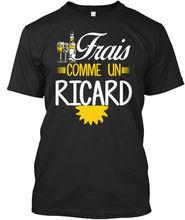 Frais Comme Un Ricard T-shirt Elegant (S-5XL) Harajuku Tops t shirt Fashion Classic Unique free shipping