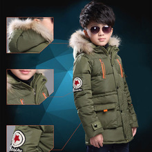 children's winter jacket boys kids outerwear coat hooded long warm thick boys parkas coats child skiing coat for adolescents