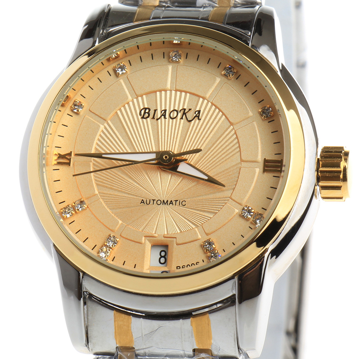 BIAOKA Brand New Fashion Gold Watch Stilig Stål Kvinnor Klocka - Damklockor - Foto 4