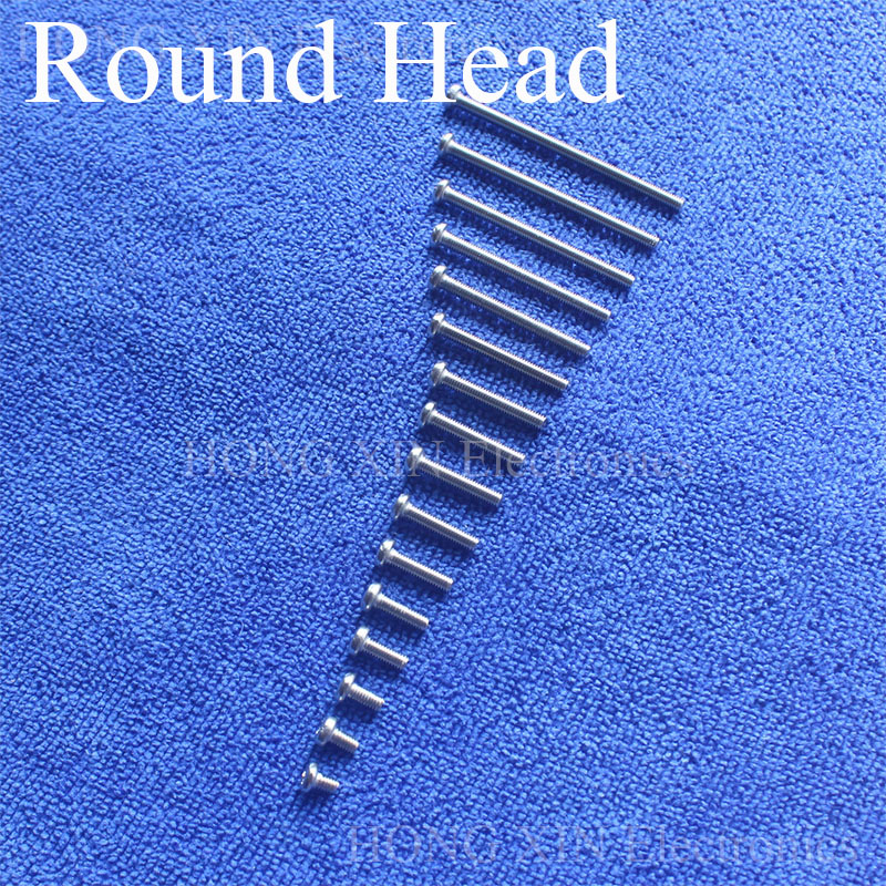 1Pcs M3 304 Stainless Steel Round Head Screws Mushroom Hexagon Socket Button Head Screw Phillips Crosshead Thread Bolt 10pcs din7380 button head socket cap screw 304 stainless steel round pan head screws m5 30mm