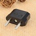 EU/US Socket to EU Plug AC Power Adapter Plugs - Black (2.5~250V)