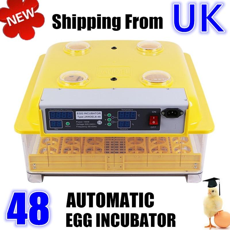 Original Janoel 48 Egg Incubator Hatcher for Hatching Poultry Eggs Chicken Hen Duck Full Automatic 60 eggs incubator new design jn5 60 mini egg incubator poultry hatcher egg chicken quail duck incubator