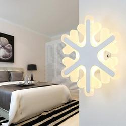 Proste sypialnia lampki nocne LED kinkiet kreatywny lampa przejściach i korytarzach salon pokój śniegu akrylowa lampa dla dzieci pokój światła darmowa wysyłka w Wewnętrzne kinkiety LED od Lampy i oświetlenie na
