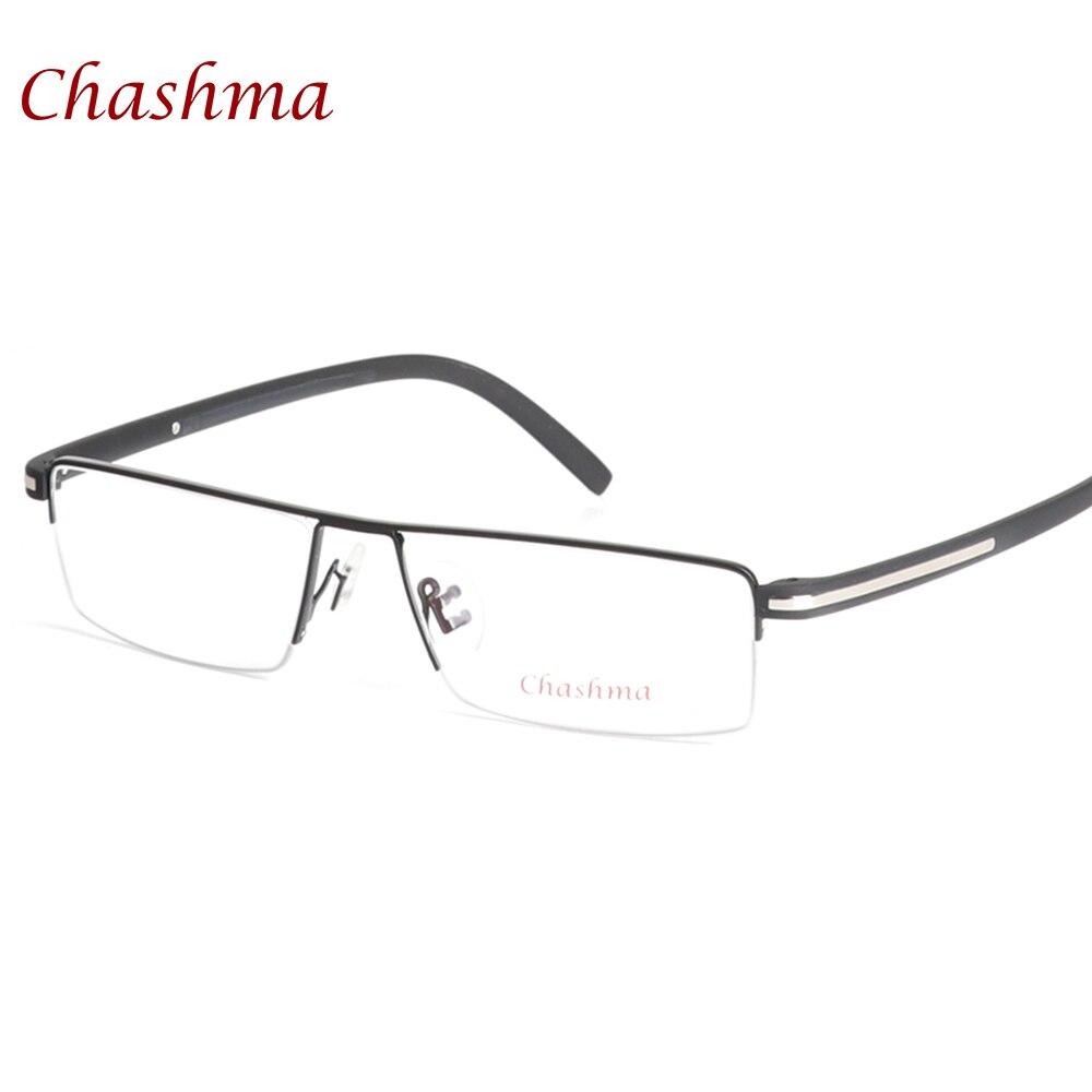 ᑐChashma Brand Classic Design Alloy Eyeglass Half Rimmed Men\'s ...