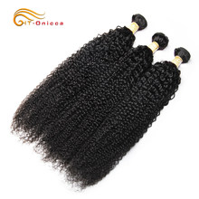 Onicca Kinky Curly Brazilian Hair Weave Bundles Deal Human Hair Extension 8 To 28 Inch Remy 100% Human Hair Bundles 1/3/4 Pieces(China)