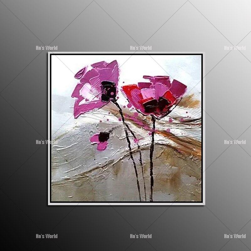 13 32 50 De Réduction Peintures à L Huile Chaude à La Main Kinfe Fleur Pourpre Sur Toile Peinture Moderne Peintures Acryliques Accrocher Des Images