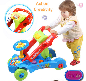 2017 Baby Walker Rid On Toys Car Features U Type Of Hand Push And Slide With Music Can Speed Mountable Carts Toys For Children 1