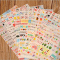 6 hojas/porción de Corea Vida Pintura Diario pegatinas portátiles rosa versión de la vida simple Decorativo Notebook Calendario Memo etiqueta