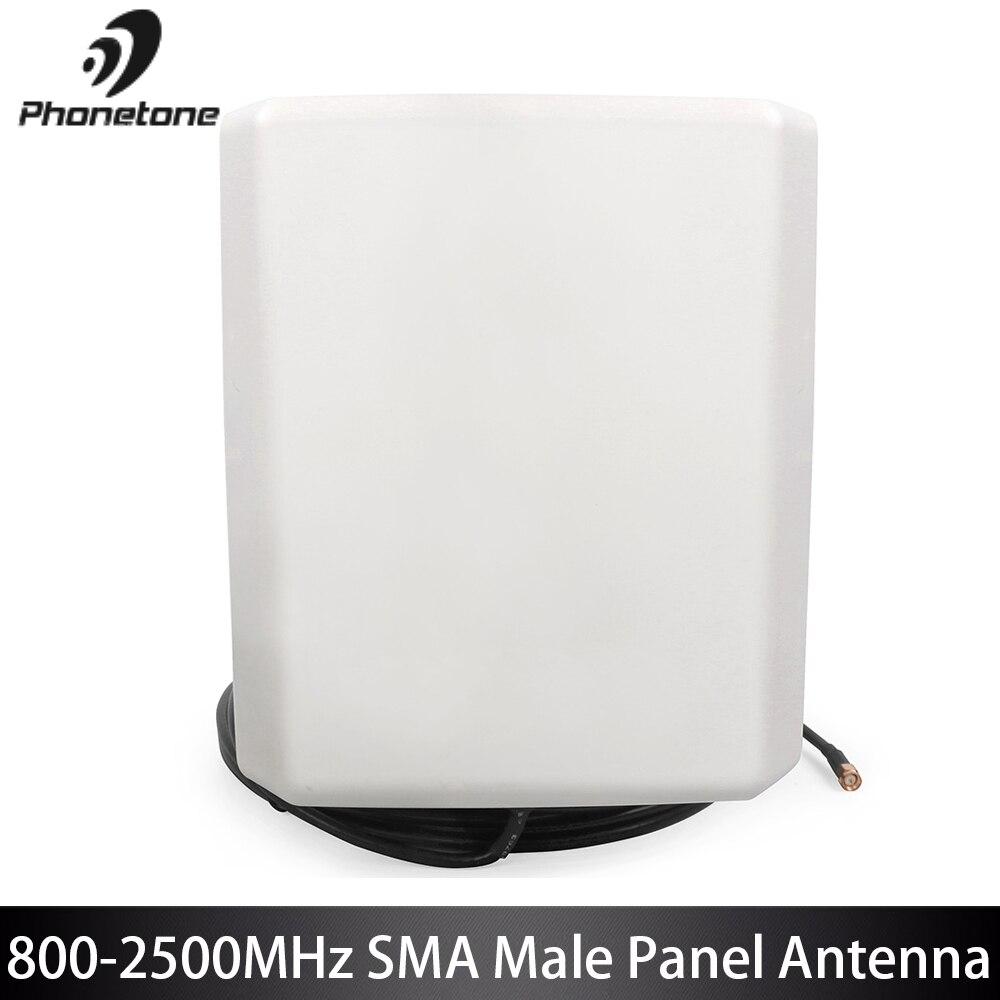 Antenne extérieure de panneau de téléphone de 3G GSM répéteur 800-2500 MHz 7.0-9.0dBi pour le propulseur de Signal cellulaire avec le câble masculin du connecteur 10 M de SMA
