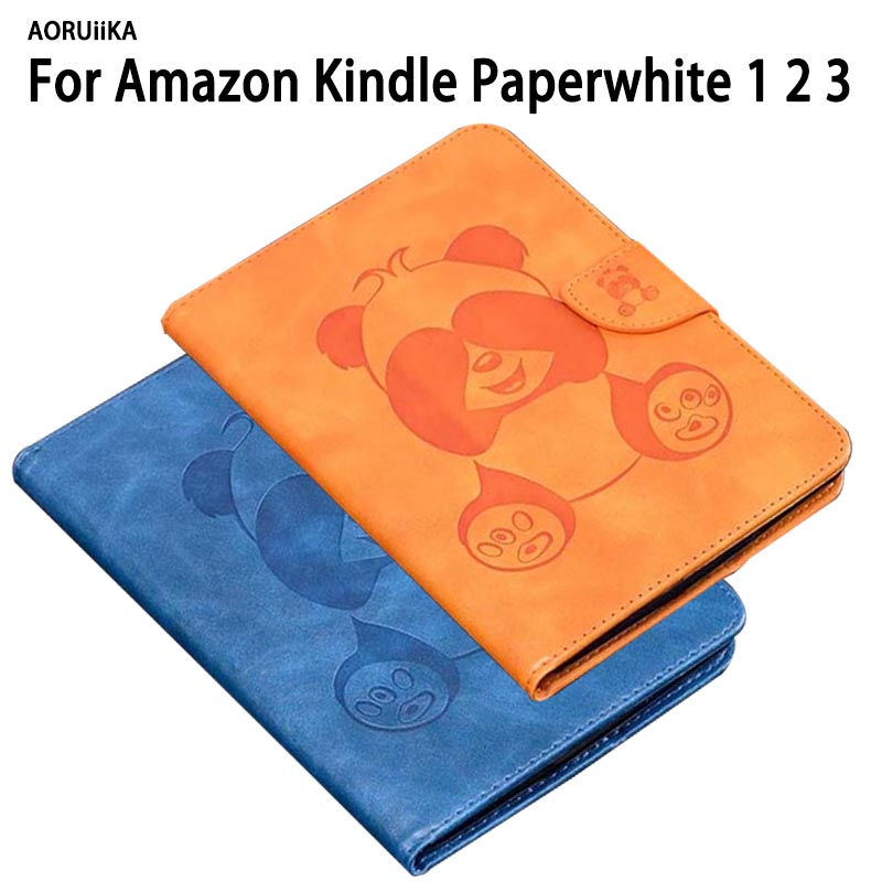 For Amazon Kindle Paperwhite Case 123 Smart Cover Auto Sleep Wake up eReader Case for Kindle Paperwhite 3 2 1 Cartoon shell +pen alabasta for capa amazon kindle paperwhite 1 2 3 case cover ultra slim case for tablet 6inch shell with sleep