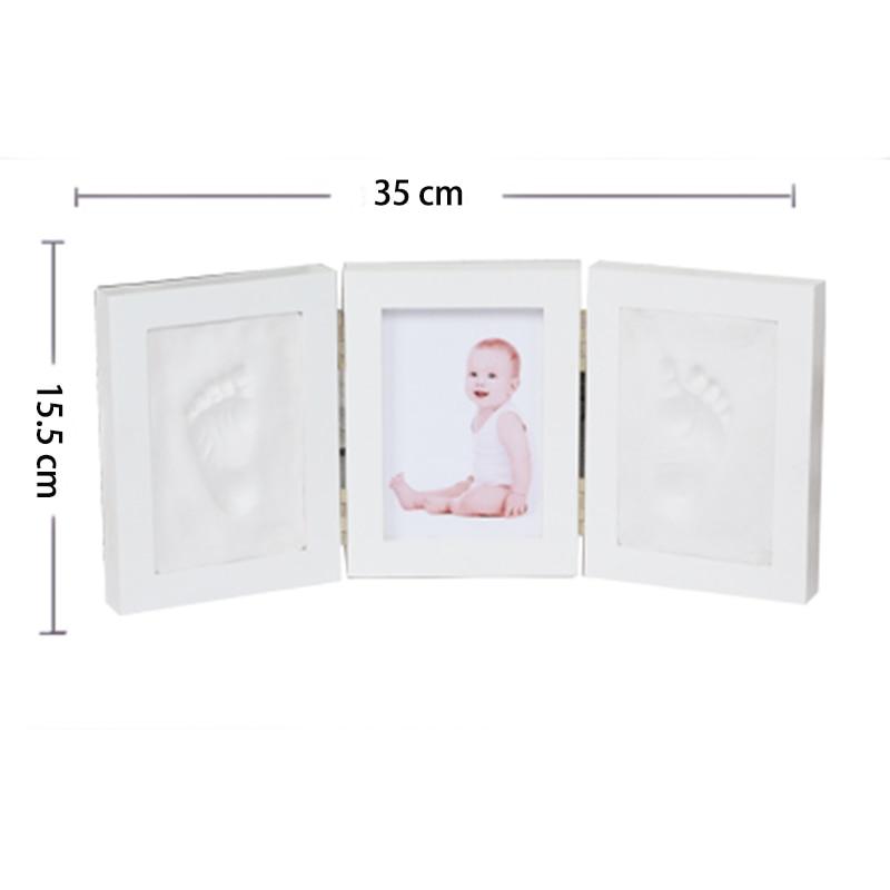 Cute Baby Photo frame DIY handprint Imprint Air Drying Soft Clay Footprint Kids Casting Parent-child hand inkpad fingerprint