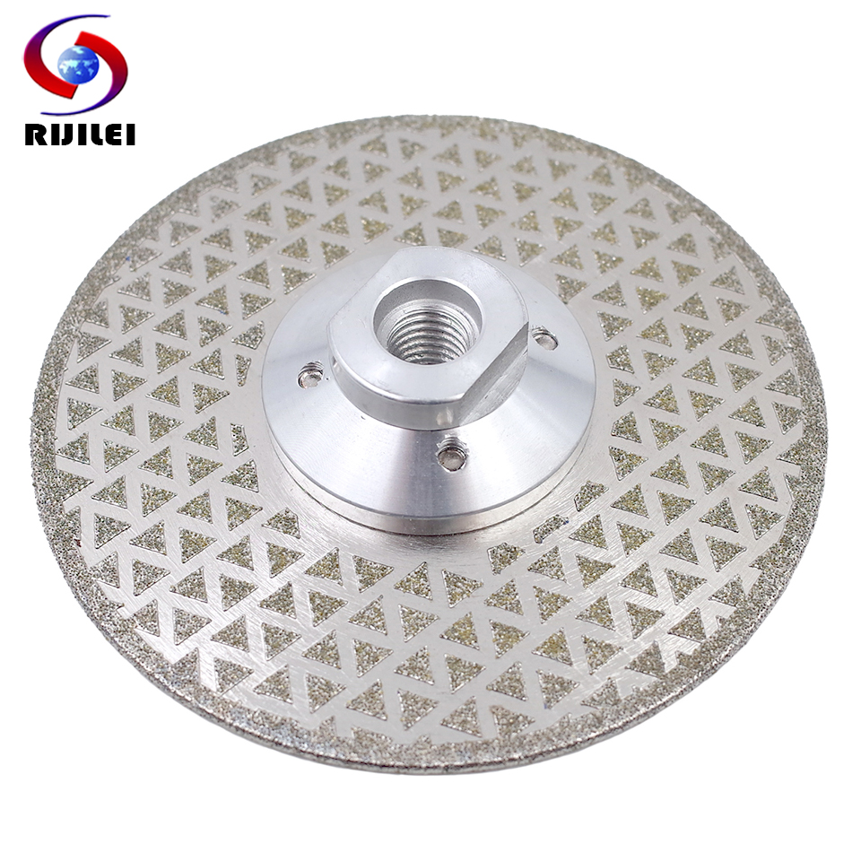 RIJILEI Electroplated Diamond Saw Blade Galvanized Diamond Cutting And Grinding Disc Both Sides For Marble Granite Ceramic Tile