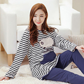 Cotton Maternity Sleepwear For Feeding Clothes For Pregnant Women Home Suit Soft Cute Maternity Nightgown Nursing 60M0050
