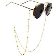 Модные женские Золотые Серебряные очки солнечные очки с цепочкой для чтения из бисера очки цепи очки шнур держатель шеи ремень веревка