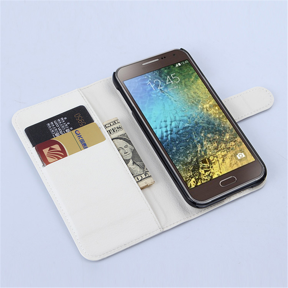 Hot Sale Luxury Business Wallet Bag Phone Cover Stand Retro Leather Samsung Galaxy E5 E500 Case For Sm E500f With Card Slot Factory Price