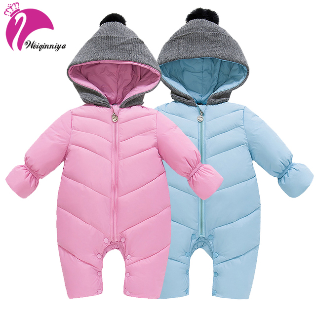 a7be1f0d8 New 2018 Winter Baby Snowsuit Fashion Hooded Parka Down Outwear Coat ...