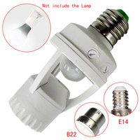 Hot Selling PBT Screw Light Bulb Holder LED PIR Infrared Motion Sensor Lamp With Switch Socket