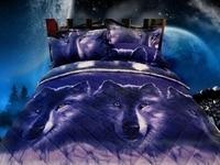 Nieuwe 3D Wolf Dekbed Set Dekbed 2 stks Kussenslopen 3d Thuis Textiel Slaapkamer Dier Quilt Kingsize Dekbedovertrek