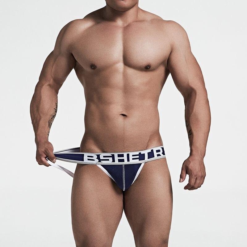 ff170822447e 3 Pcs/lot New G-strings tanga BSHETR Brand Gay Jockstrap Breathable Male  Underwear Cotton Panties Sexy Bikini Low Waist ThongsUSD 10.30/lot