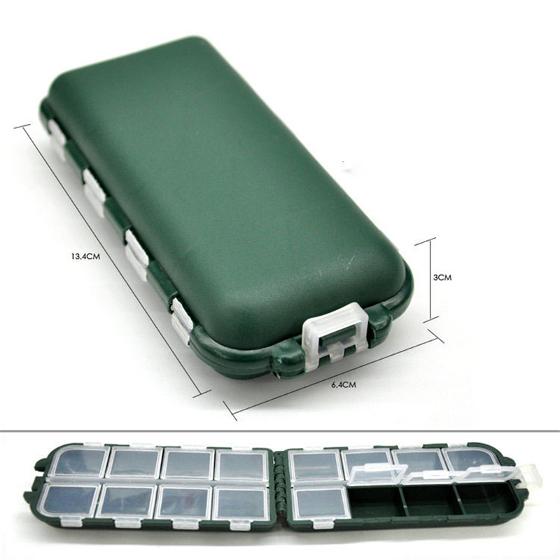 8 Compartments 13.4X6.4X3cm Fishing Tackle Boxes  Tool Case Fly Fishing Lure Spoon Hook Bait Fishing Accessory Tackle Boxes