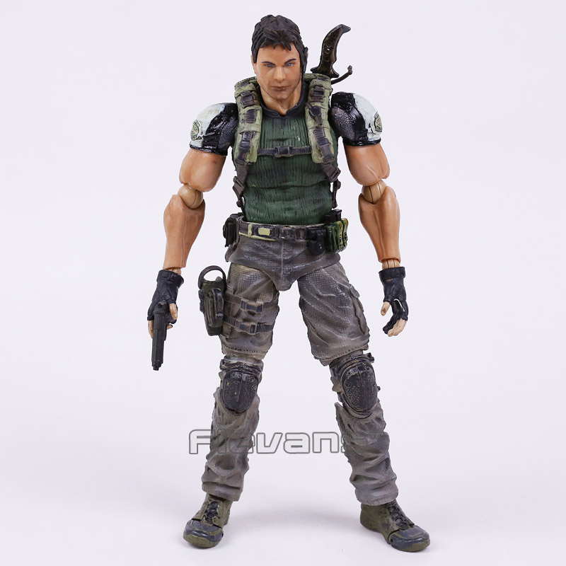 ФОТО PLAY ARTS KAI Biohazard 5 Resident Evil 5 Chris Redfield PVC Action Figure Collectible Model Toy