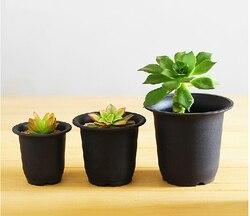 Free shipping 10pcs lot black flowerpot plastic basin fleshier plant cactus black scrub basin wholesale garden.jpg 250x250