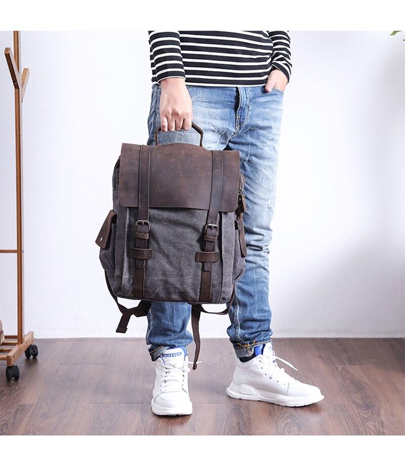 picture of the manitoba canvas rucksack from eiken