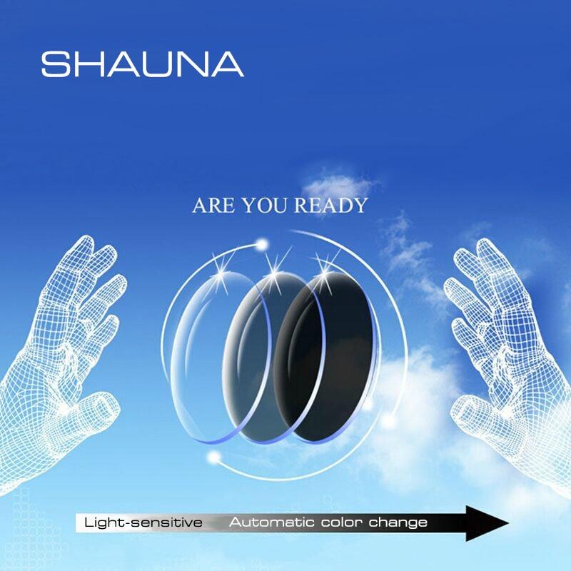 SHAUNA 1.56 Prescription CR-39 Resin Discoloration Glasses Lenses Myopia Hyperopia Presbyopia Optical Lens Light-Sensitive