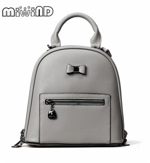 MIWIND Women Backpacks For Teenage Teen Girls PU Backpack Female Bowknot Feminine Backpack School Bagpack Girl